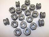 20 dadi M10 per cesoie 10 mm x 1,5 passo anti vandalo sicurezza antimanomissione metrica...