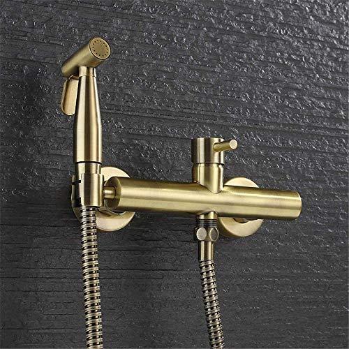 Baño latón acabado en bronce antiguo bidet grifo inodoro bidet ducha set aerosol bidé portátil