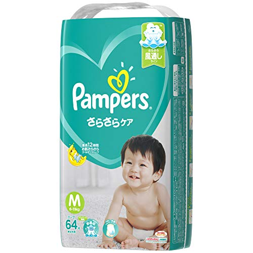 [Tape M size] Pampers diaper smooth care (6-11kg) 64 sheets