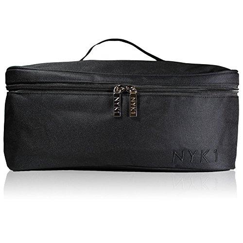 NYK1 Beauty Bag | Aufbewahrungs-Kosmetikkoffer | Perfekt für Gelnagel-Lampe, Nagelsalon-Set Transportkoffer | Professionelle-Kosmetikaufbewahrung, Waxing, größere Größe mit verstellbaren Fächern