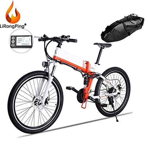 LiRongPing 26' Electric Mountain Bike,Removable Large Capacity Battery (36V 350W),Compact Adult Electric Bike for Work Outdoor Cycling Travel Commute