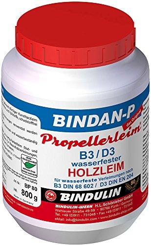 Bindulin Bindan-P Propellerleim Holzleim Leim Wasserfest (800g PE-Dose)