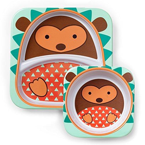 Skip Hop Baby Plate and Bowl Set, Melamine, Hedgehog