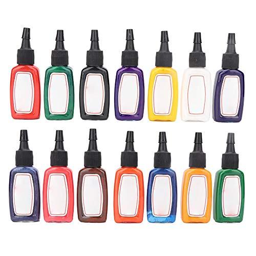Juego de 14 colores de tinta para tatuajes, color corporal, pigmento, kit de pigmento profesional, tinta para tatuajes, tinta para tatuajes, tinta para tatuajes profesional