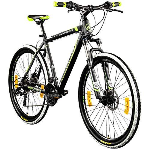 Galano 27,5 Zoll 650B MTB Toxic Mountainbike Scheibenbremsen (schwarz/grün, 46 cm)