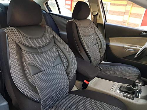 Sitzbezüge K-Maniac für Golf Sportsvan | Universal schwarz-grau | Autositzbezüge Set Komplett | Autozubehör Innenraum | NO2229399 | Kfz Tuning | Sitzbezug | Sitzschoner