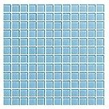 Cottoceram Mosaico enmallado de Cristal 30x30 cm. Color Azul Claro