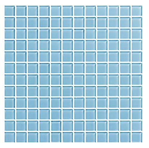 Cottoceram Mosaico enmallado de Cristal 30x30 cm. Color Azul