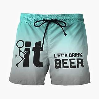 Jaromepower Summer Men's Swimwear, Men Drawstring Casual Printed Beach Work Casual Trouser Shorts Pants