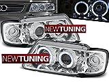 Faros delanteros Audi A3 8L 08.96-08.00 Angel Eyes Cromo
