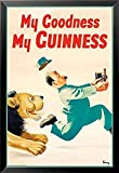 Framed Guinness Beer My Goodness My Guinness by Gilroy 24x16 Advertising Art Print Poster Irish Stout Brew