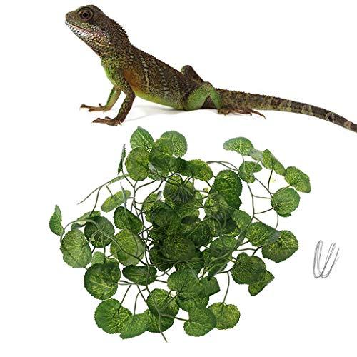 Yanhonin Deko-Terrarium – Weinrebe, künstliche Pflanze, Dekoration für Reptilien, Amphibien