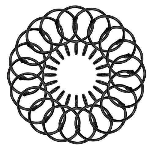 CUKCIC Vorhangringe Metall Loseblattring Duschvorhänge Ringe Gardinenringe Binder Ringe
