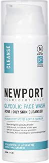 13% Glycolic Acid Exfoliating Facial Cleanser - Anti-Wrinkle Anti-Aging Anti-Acne Deep Clean Face Wash, Fades Age Spots & Evens Tone