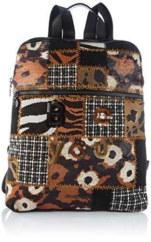 Desigual Accessories Fabric Backpack Medium, Mochila. para Mujer, negro, U