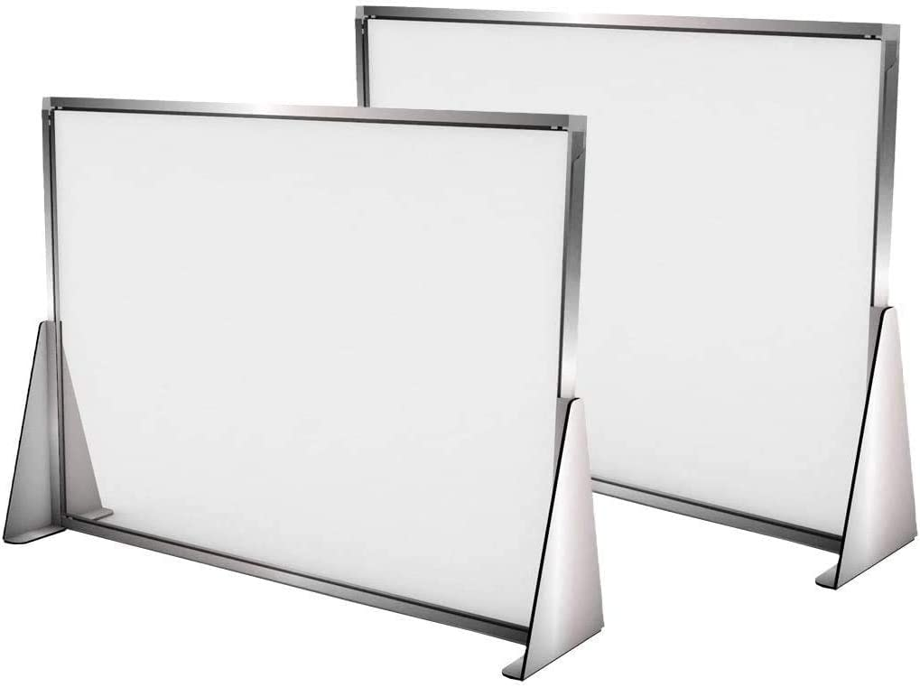 2 Sneeze Online limited product Guard for Counter - Spaced Special sale item Freestanding Shi L Screens