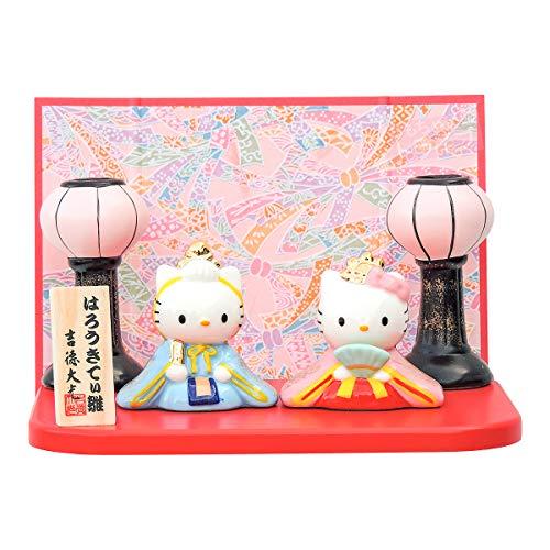 Sanrio ハローキティ 雪洞(ぼんぼり)付 磁器雛 183020