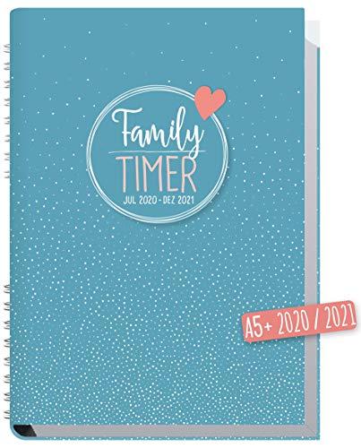 Family-Timer 2020/2021 A5 [Tiny Dots] Familien-Kalender 18 Monate: Juli 20 - Dezember 21 | Familien-Planer für bis zu 4 Personen + viele hilfreiche Features | nachhaltig & klimaneutral