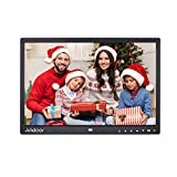 15 inch Digital Photo Frames, Andoer Digital Picture Frame 1280 x 800 HD Resolution 16:9 Wide Picture Screen with Zoom Rotate Music Video Playback Infrared Remote Control