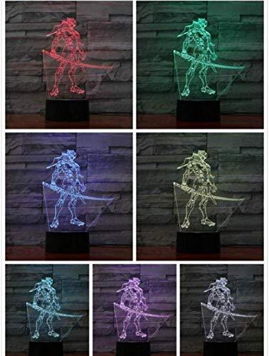 3D nachtlampje spel LED nachtlampje Action Decoratieve lamp 7 kleuren veranderende 3D lamp tafel slaapkamer wooncultuur