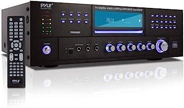 4-Channel Home Theater Bluetooth Preamplifier - 3000 Watt Stereo Speaker Home Audio Receiver Preamp w/ Radio, USB, 2 Micro...