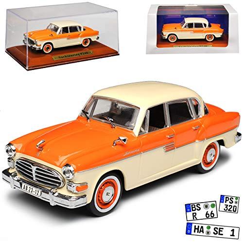 alles-meine.de GmbH Sachsenring P240 Limousine Orange mit Beige 1956-1959 DDR 1/43 Atlas Modell Auto