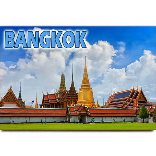 WAT Phra Kaew imán para nevera Souvenir de viaje Bangkok Tailandia