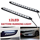 HugeAuto 2 x 12 LED luces diurnas coche DRL luz antiniebla impermeable...