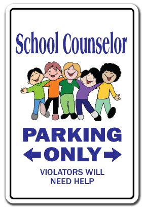 "School Counselor Aluminum Sign Guidance Counselors high Middle Retirement College | Indoor/Outdoor | 14"" Tall"