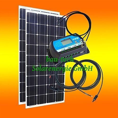 260Watt 12Volt Inselanlage, Solar Bausatz, Basis Set für Garten Camping von bau-tech Solarenergie GmbH
