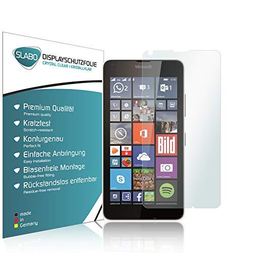 Slabo 4 x Bildschirmschutzfolie für Microsoft Lumia 640/640 Dual-SIM Bildschirmfolie Schutzfolie Folie Zubehör Crystal Clear KLAR