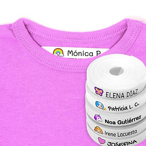 Kleidungsetiketten mit Namen für Kinder 100 Textilstücke - Fantasiezeichnungen - Umweltzertifikat