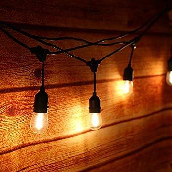25 poires,3 ampoules de rechange OxyLED Guirlandes Lumineuses,Lumi/ères de Ficelle ext/érieures,2 paquets G40 25ft Globe Patio Jardin ext/érieur lumi/ères de Guirlande,d/écoratif ficelles de lumi/ères