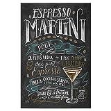 artboxONE Poster 30x20 cm Cocktails Typografie Espresso