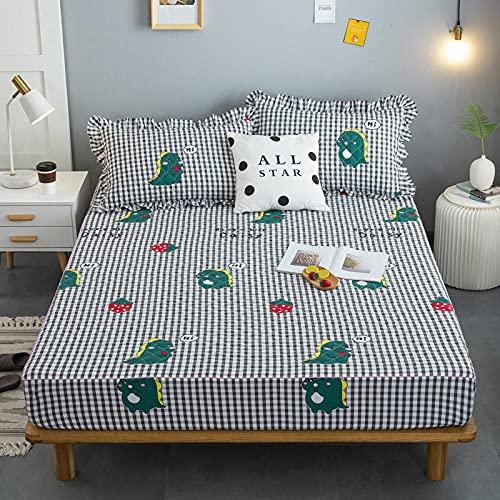 XGguo Protector de colchón - Protector de colchón antialérgico Sábana Impermeable de una Sola Pieza a Prueba de orina y transpirable-17_90x200cm + 25cm