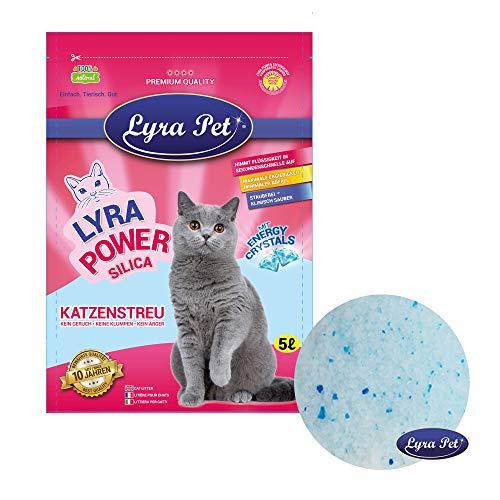 Lyra Pet® 12 x 5 l = 60 L Lyra Power Silikat Katzenstreu Cat klumpfrei Katze TOP