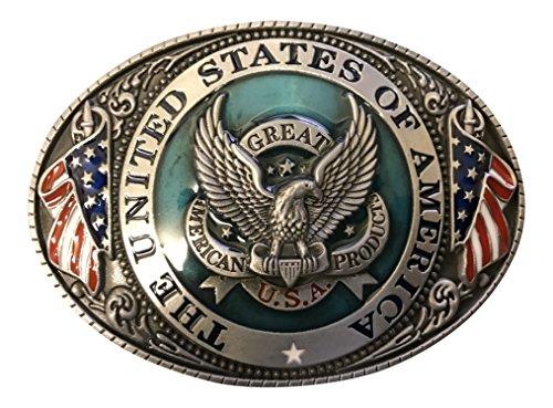 Buckle Gürtelschnalle Kopel THE UNITED STATES USA Adler