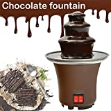 Chocolate Fountain, Machine Electirc Chocolate Pro Fondue Set, Easy To Assemble 3 Tier Stainless Steel Fondue Heat &...
