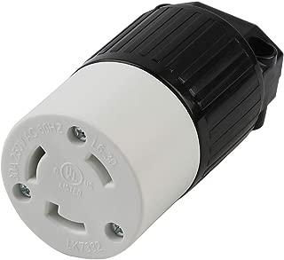 Nema L6-30R 30 Amp 250 Volt Connector, L6-30 Locking Power Cord Connector 2P 3W, Locking Plug, Industrial Grade DIY Twist-Lock Cord Connector