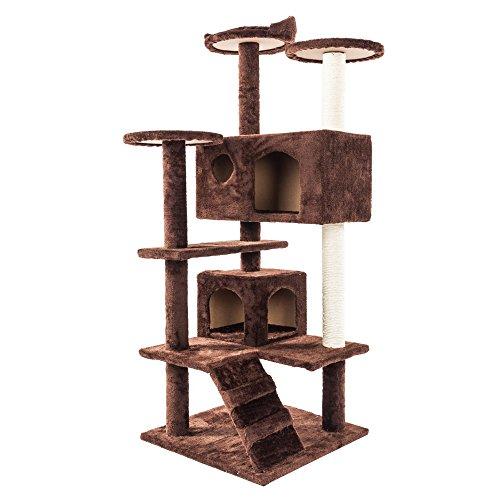 Redsa Kratzbaum mit mehreren Ebenen, 132 cm, Kletterturm, Spielcenter mit...