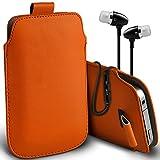 ( Orange + Ear phone ) Pouch case for ALLVIEW X3 SOUL PLUS
