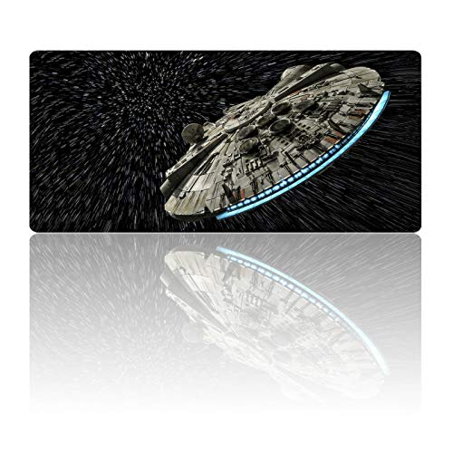 Star Wars Mouse Pad Digital Space Large Gaming Mousepad Laptop Desk Mat,Non-Slip Rubber Base,Stitched Edges,Smooth Fabric Design,Computer Keyboard & Mice Combo Pads for Office Home Game 23.6X11.8