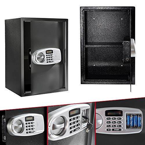 Arebos Tresor Safe Cassaforte elettronica per mobili Cassaforte da parete Digitale