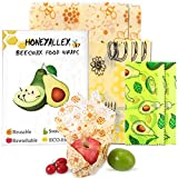 HONEYALLEY Reusable Beewax Food Wrap, 7 Pack...