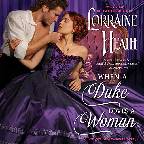 When a Duke Loves a Woman audiobook cover art