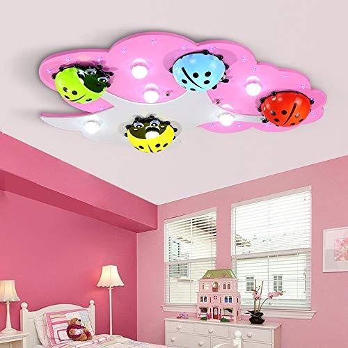 Plafondlamp - Moderne eenvoudige Cartoon Creative Princess Nursery houten plafondlamp kinderkamer babykamer Nursery Ceiling lamp (kleur naar keuze) - Startside Warm Blanket (kleur: roze)