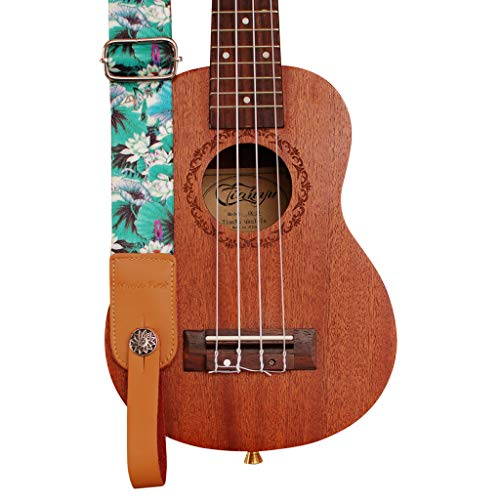 """MUSIC FIRST Original Design """"LOTUS"""" Ukulele Strap"""