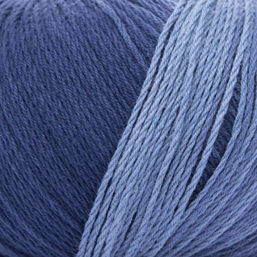 ggh Calypso | 100% Baumwolle | 50g Wolle zum Stricken oder Häkeln mit langem Farbverlauf | Farbe 007 - Ozeanblau-Türkis