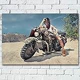 UHvEZ Regalo de Rompecabezas de 500pcs_Children Bicicleta de montaña del Desierto Juego de Rompecabezas para Adultos/niños Juguete Cerebro decoración del hogar 52x38cm