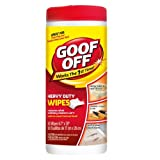 Goof Off FG685 Heavy Duty Spot Remover and Degreaser Wipes, 30 Wipes Per Container by Goof Off